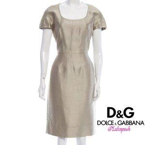 DOLCE & GABBANA Short Sleeve Knee-Length Dress M